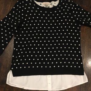Loft Twofer Sweater - Size SP Petite